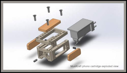 Audio MusiKraft Customizable Phono Cartridge (exploded view)