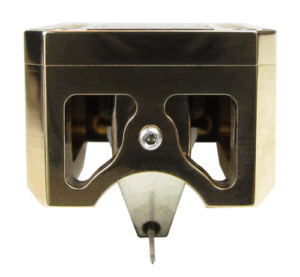 Audio Musikraft Phono Cartridge Gold Plated Mirror Polished Bronze Series Nitro 1 (front view)