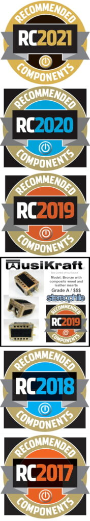 Audio MusiKraft Phono Cartridge Recommended Components Awards